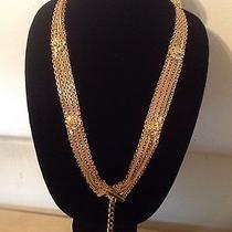 Authentic Chanel Rare Stamped Vintage Gold Plated Lion Belt / Necklace Photo
