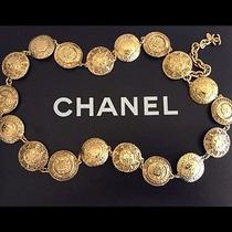 Authentic  Chanel Rare Vintage 1980's Gold Plated Medallion Necklace / Belt  Photo