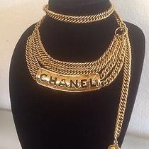 Authentic Chanel Rare Vintage Gold Plated Chain Link Belt/ Necklace & Bag  Photo