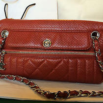 Authentic Chanel Red Perforated Camera Handbag Photo
