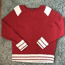 Authentic Chanel Red White Sweater Fr40 (8)  Photo