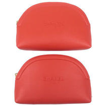Authentic Chanel Set of 2 Cosmetic Pouch Clutch Bag Red Used F/s Photo