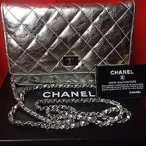Authentic Chanel Silver Metallic Leather Photo