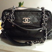 Authentic Chanel Soft Lambskin Camera Bag - Black Photo