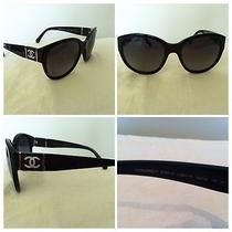 Authentic Chanel Sunglasses Black Very Chic Gently Worn Photo