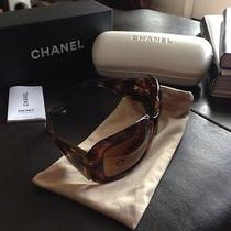 Authentic Chanel Sunglasses Brown Tortoise Shell Mother of Pearl 5076h Photo
