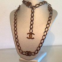 Authentic Chanel Vintage '97a Chain Link Cc Necklace / Belt  Bag Photo