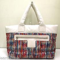 Authentic Chanel White Multi Coco Cocoon A48611 Nylon Handbag Photo