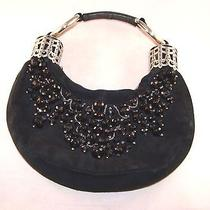 Authentic Chloe Beaded Black Suede Hobo Bracelet Evening Bag Rare and Sold Out Photo