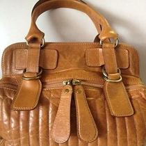 Authentic Chloe Cognac Bag With Gold Hardware Photo