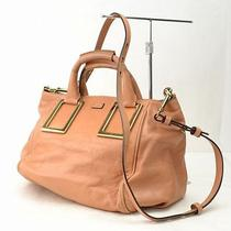 Authentic  Chloe Hand Bag  Other Brown Leather 28184 Photo