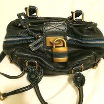 Authentic Chloe Paddington Vanity Bag Blue Photo