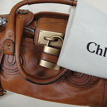 Authentic Chloe Paddington Whiskey Cognac Leather Shoulder Handbag Photo