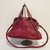 Authentic Chloe Red Leather Shoulder Shoulder Bag Photo