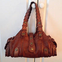 Authentic Chloe Silverado Satchel Handbag Mahogany Brown Leather Nordstrom Photo