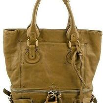 Authentic Chloe Tote Bag Paddington Very Rugged Olive Brown Leather 03-06-53 Photo
