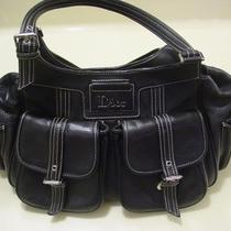Authentic Christian Dior Black Diorissimo Leather Hobo Satchel Handbag Bag 1550 Photo