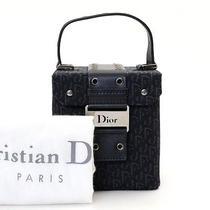 Authentic Christian Dior Canvas Mini Vanity Black Handbag Used in Japan Photo