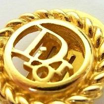 Authentic Christian Dior Gold Tone Dior Logos Clip on Earring From Japan Photo