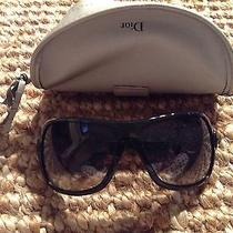 Authentic Christian Dior Lock Heart Black Sunglasses D2844 65 15 120 Photo