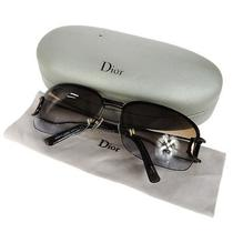 Authentic Christian Dior Logos Sunglasses Eye Wear Bronze Metal Vintage 07b649y Photo