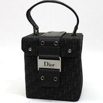 Authentic Christian Dior Street Chic Mini Vanity Bag Black  Photo