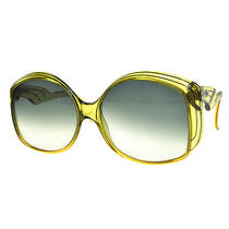 Authentic Christian Dior Sunglasses Eye Wear Plastic Green Vintage Ak06845 Photo