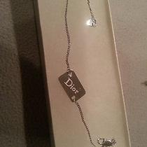 Authentic Christian Dior Vintage Logos Silver Chain Bracelet  Photo