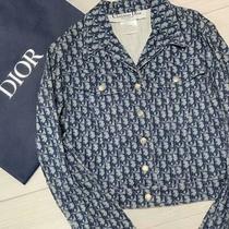 Authentic Christian Dior Vintage Trotter Monogram Denim Jacket Blue Size 36 Us 4 Photo