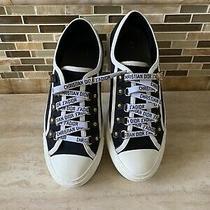 Authentic Christian Dior Walk'n'dior Women's Sneakers W/ Original Pouch Sz 37.5 Photo