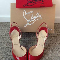 Authentic Christian Louboutin Nan Red Size 38.5. Worn Once Like New Photo