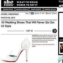 Authentic Christian Louboutin White Satin Wedding/ Bridal Shoe Photo