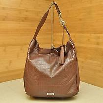 Authentic Coach 26122 Avery Croc Embossed Leather Hobo Shoulder Bag Tote  Photo