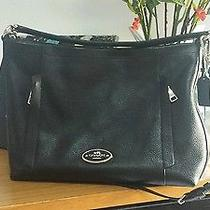 Authentic Coach 34312 Scout Hobo (In Black Pebble Leather) Like New Photo
