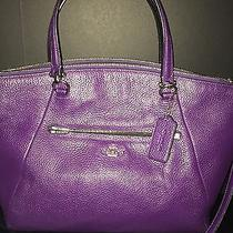 Authentic Coach 36417 Violet Purple Prairie Satchel Crossbody Photo