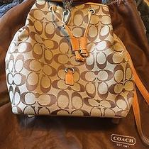 Authentic Coach Backpack Classic Brown Signature Photo
