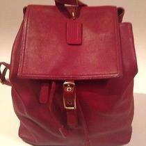 Authentic Coach Backpack Red Photo