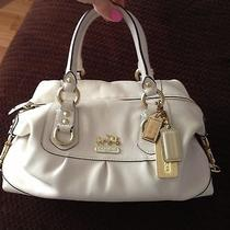 Authentic Coach Bag Satchel Cream  White  Gold Hardwear Photo
