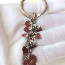 Authentic Coach  Beautiful Waterfall Hearts Coach Keyring Photo