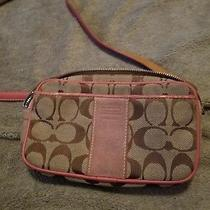 Authentic Coach Beige and Coral Waist  Belt Bag Messenger  Fanny Pack Photo