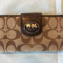 Authentic Coach Beige/brown Wallet   Photo