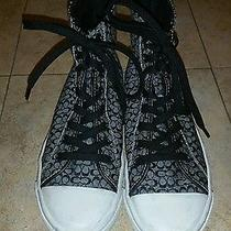 Authentic Coach Bianca Canvas Signature High Top Sneakers Size 7.5 Photo