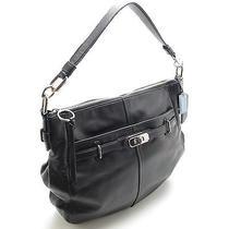 Authentic Coach Black Glove Leather Chelsea Hobo Shoulder Nickel Hardware Xlnt Photo