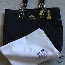 Authentic Coach Black Hand Bag Purse Photo