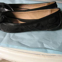Authentic Coach Black Jana Signature Ballet Flats Shoes Size 5.5  Photo
