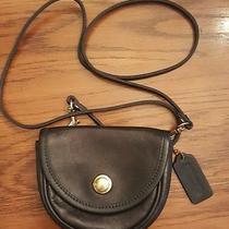 Authentic Coach Black Leather Crossbody Bag Vintage Mint Condition Beautiful Photo