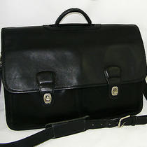Authentic Coach Black Leather Professional Laptop Briefcase Photo