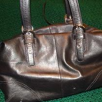 Authentic Coach  Black Leather Satchel Handbag  Photo