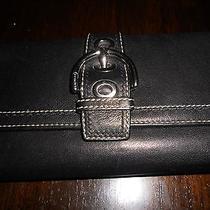 Authentic Coach  Black Leather Wallet  (Euc) Photo