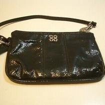 Authentic Coach Black Patent Leather Wristlet/wallet  With Silver Hardware  Photo